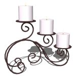 Wrought iron 3 candles holder for table decoration...