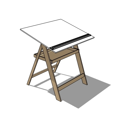 This is a model of a drafting table. I didn't make....
