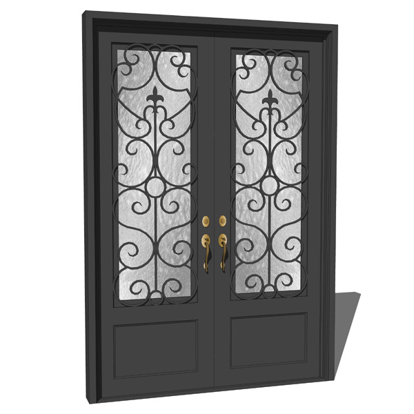 Iron Exterior Door 02 3d Model Formfonts 3d Models