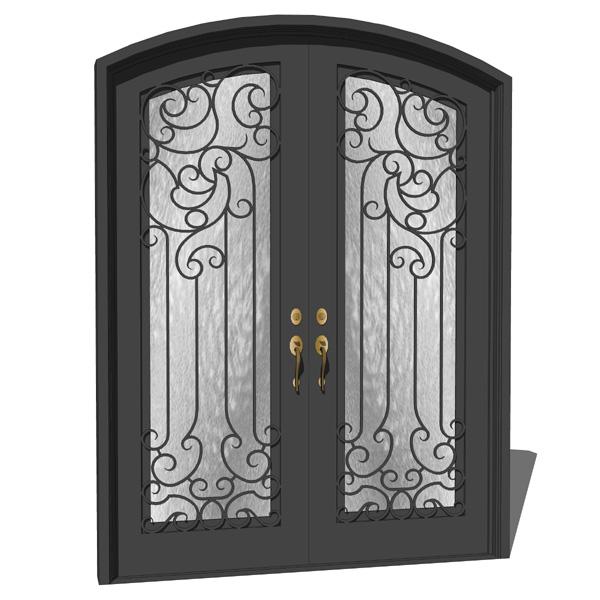 iron exterior door 04 3d model formfonts 3d models textures