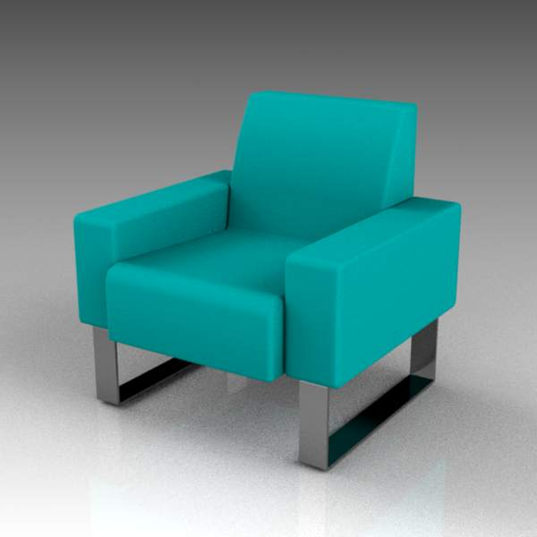 Mono metal armchair by Materia.