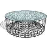 Amaya coffe table with abaca rope wowen over a fra...