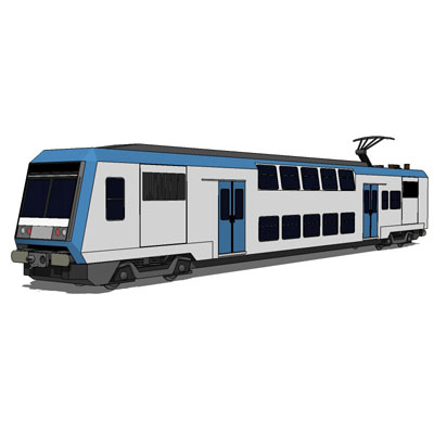 Alstom Z20900 double decker train, used for suburb....