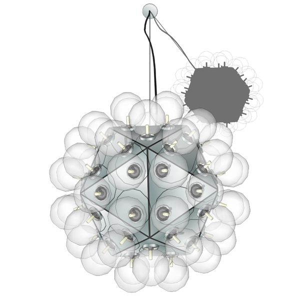 Taraxacum ´88 suspension lamp. 60 inc....