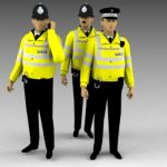 British police in high visibility jackets