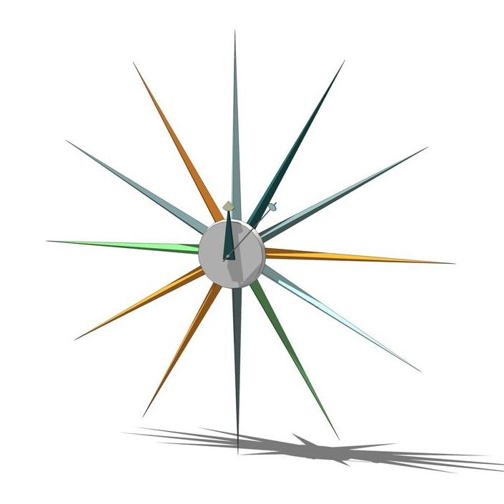 "George Nelson designed ""Sunburst"" clock.."