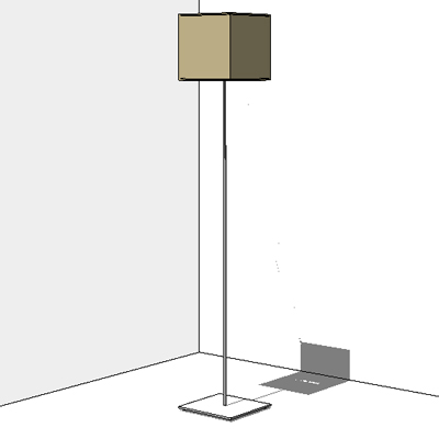 Wall Light Revit Model : Standing Lamp IKEA Orgel 3D Model - FormFonts 3D Models & Textures