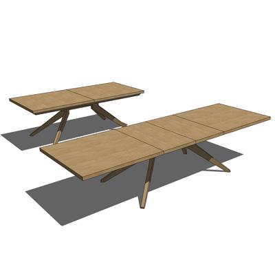 Cross Extension Table 3d Model Formfonts 3d Models