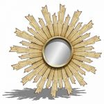 "Sunburst mirror. &8709; 36""."