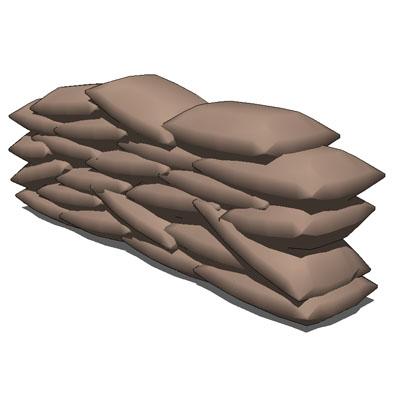 Sand Bags 3d Model Formfonts 3d Models Amp Textures