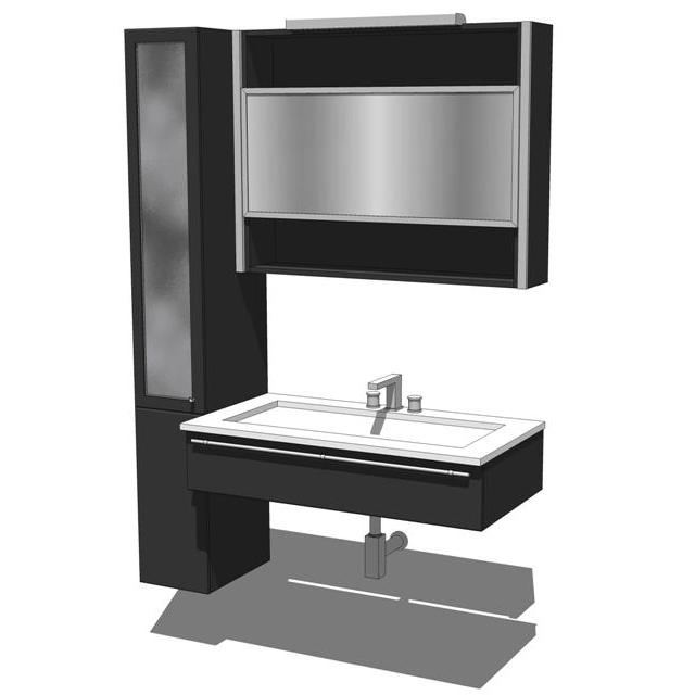 The contours of this modern bathroom vanity design....