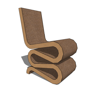 gehry wiggle chair 3d model formfonts 3d models textures. Black Bedroom Furniture Sets. Home Design Ideas