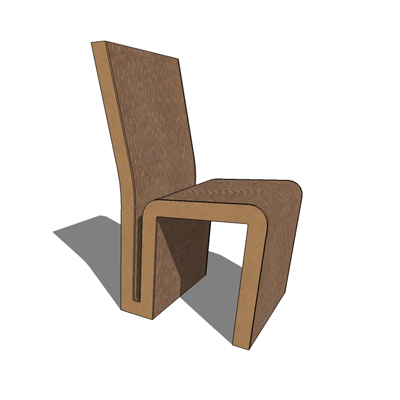 Gehry Side Chair 3D Model
