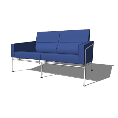 Series 3302 2 seat sofa from Fritz Hansen, designe....