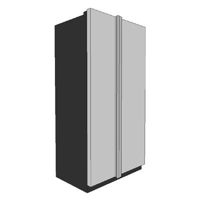 Side By Side Refrigerator 3D Model - FormFonts 3D Models & Textures