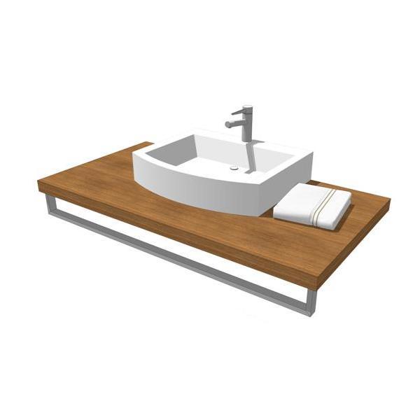 Plaza bathroom set 3d model formfonts 3d models textures for Sketchup bathroom sink