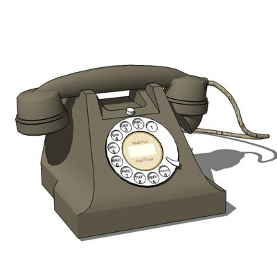 1940's style phone for use in period sets or as re....