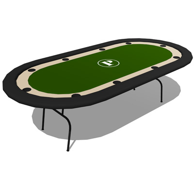 Poker Table 3D Model. A 10 Player ...