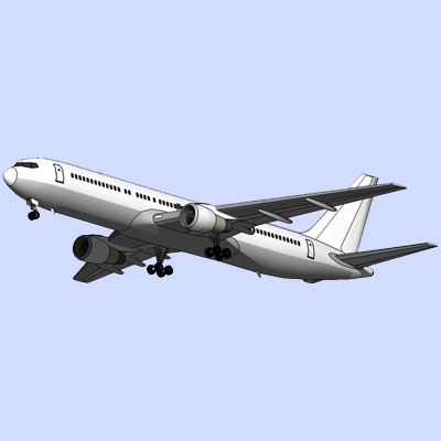 Boeing 767-300ER 3D Model - FormFonts 3D Models & Textures