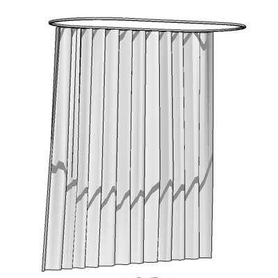 Shower Curtain 3D Model