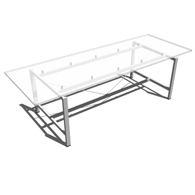 Float Glass Table designed by Foster and Partners.....