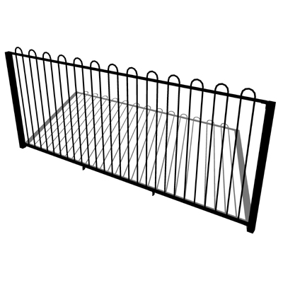 Zaun bowtop fence and gate 3d model formfonts 3d models for 3d fence