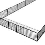 Zaun's Bowtop (rounded safety top) fencing is idea...