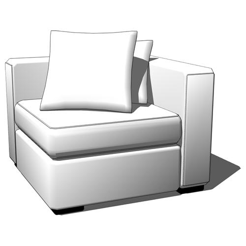 Walton Sectional 3d Model Formfonts 3d Models Amp Textures