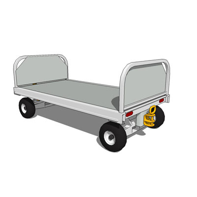 Airport Baggage Cart 3D Model - FormFonts 3D Models & Textures