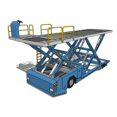 Airport Cargo Loader 3D Model