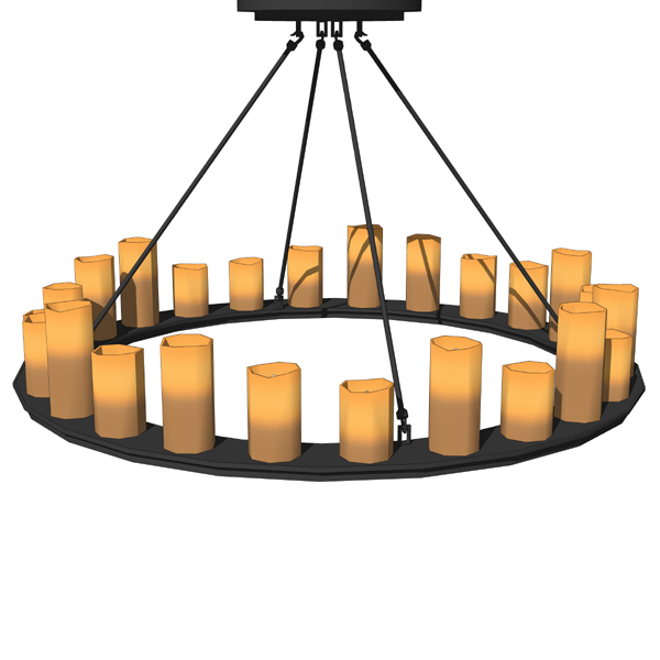 Pillar candle round chandeliers 3d model formfonts 3d models natural looking faux candles in different shapes a aloadofball Image collections