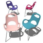 Sturdy yet flexible, the Karim Rashid Oh Chair has...