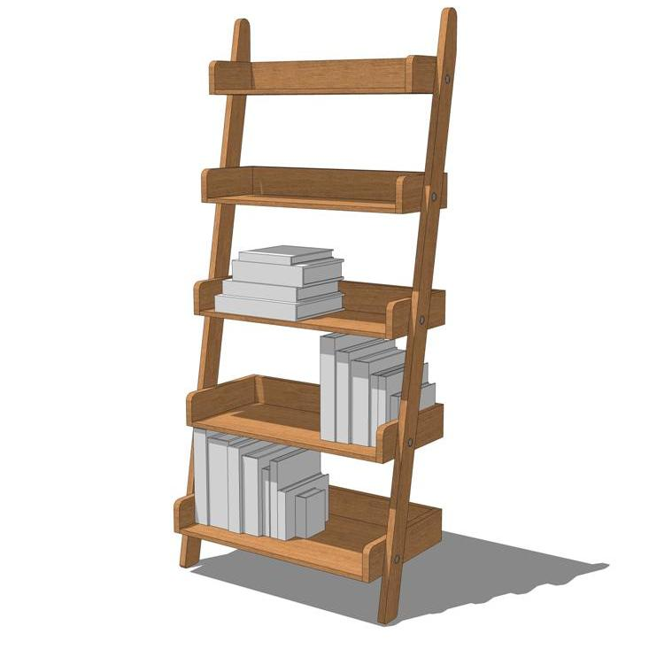 3d Wall Shelving : Leaning wall shelf d model formfonts models textures