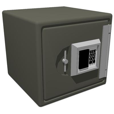 generic personal safe 3d model formfonts 3d models textures