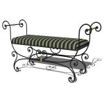 Wrought iron small bench.