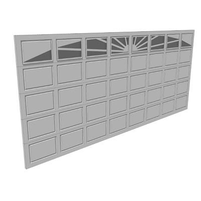 white garage door texture. Garage Doors 3D Model White Door Texture E