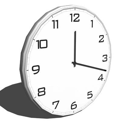 Quartz Wall Clock 3d Model Formfonts 3d Models Amp Textures