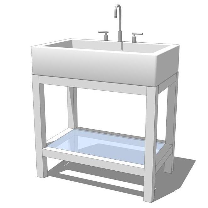 Hutton bathroom set 3d model formfonts 3d models textures for Sketchup bathroom sink