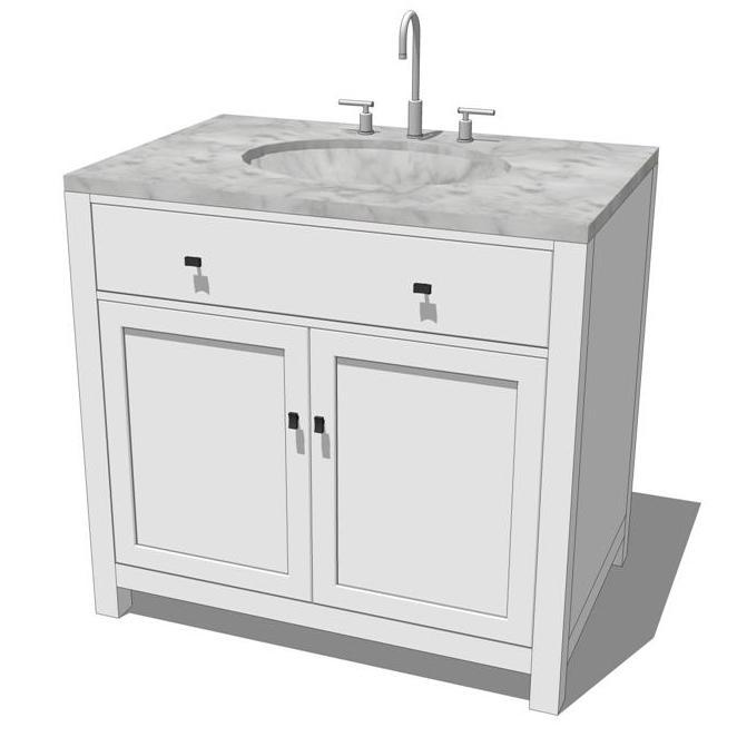 Hutton Bathroom Set 3D Model - FormFonts 3D Models & Textures
