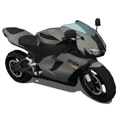 Kawasaki Ninja Zx 6r 2007 3d Model Formfonts 3d Models Textures
