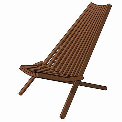 outdoor teak pool chair 3D ModelFormFonts 3D ModelsTextures
