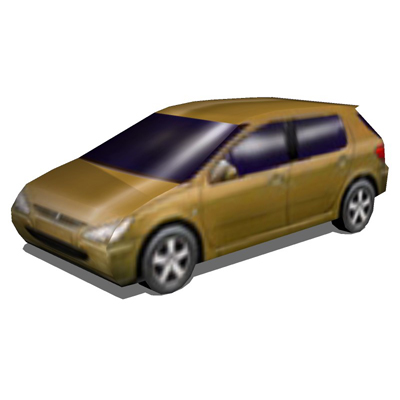 This set contains 3 Low Poly cars.