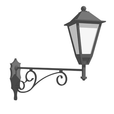 Wrought iron outdoor wall lamp 3d model formfonts 3d models wrought iron outdoor wall lamp aloadofball