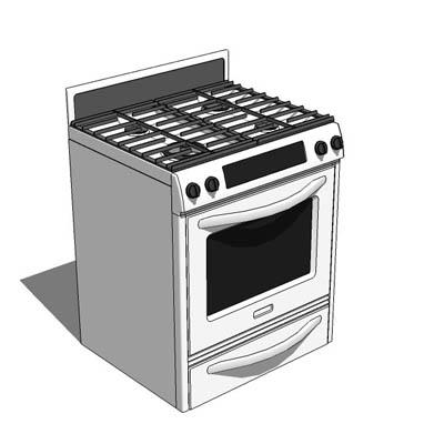 Gas convection oven 3D Model - FormFonts 3D Models & Textures