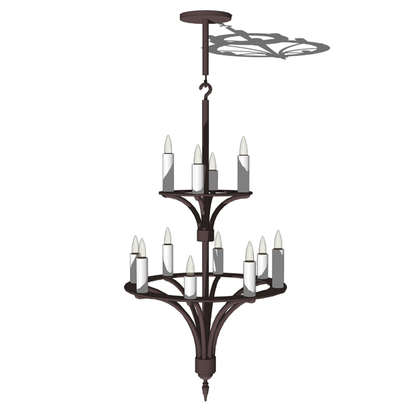 12 candles iron chandelier..