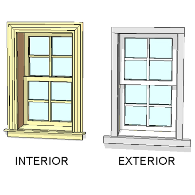 Andersen windows 400 series woodwright dbl hung window for Double hung window