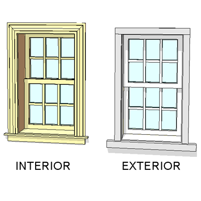 Andersen Windows 400 Series Woodwright Dbl Hung Window