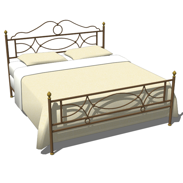 Wrought iron bedroom set 02 3D Model - FormFonts 3D Models & Textures