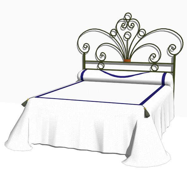 wrought iron bedroom set 03 3d model formfonts 3d models