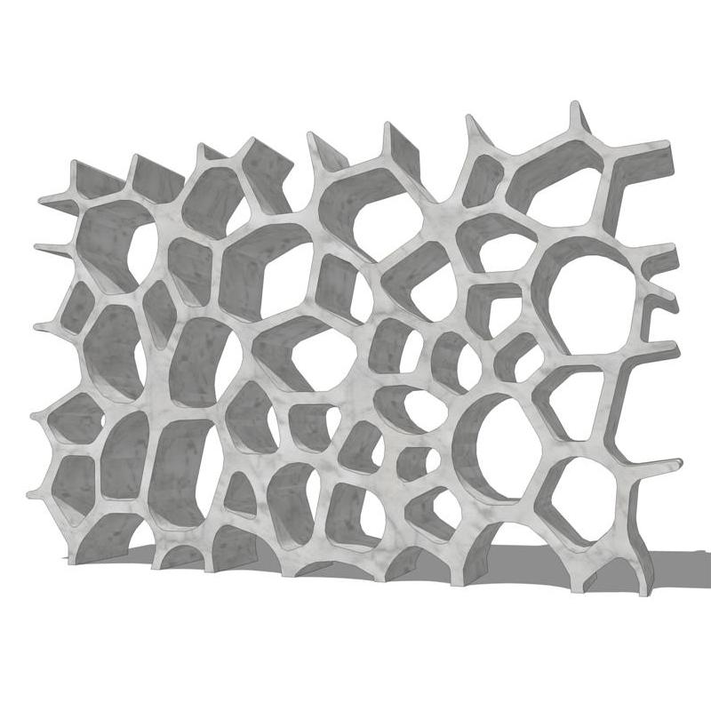 Carrara Marble Voronoi shelf..
